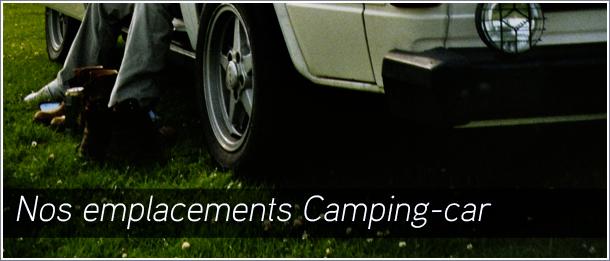 Nos hébergements emplacements camping car. Très spacieux et au bord de la rivière le Céou