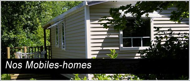 Nos hébergements mobile home 2 ou 3 chambres pouvant accueillir de 4 à 8 personnes avec terrasse dont certaines sont couvertes