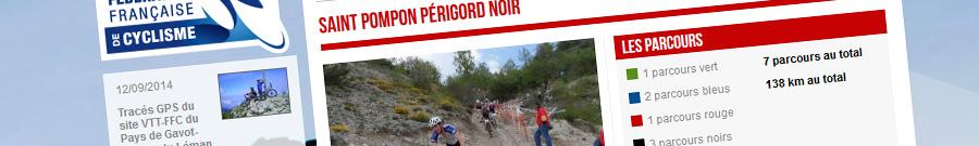 Le camping le douzou est un site recommandé par la fédération française de cyclisme