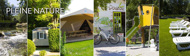 Le camping 3 étoiles le Douzou en Dordogne Périgord Noir est situé en pleine nature et au bord de la rivière le Céou