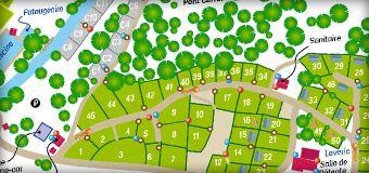 Plan du camping 3 étoiles le Douzou en Dordogne Périgord Noir