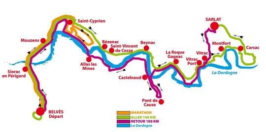 Le circuit de la course des 100 km de Belves, à proximité du camping 3 étoiles Le Douzou en Dordogne, vous fera traverser tout le Périgord Noir. Vous découvrirez les châteaux, Bastides, plus beaux villages de France et des paysages exceptionnels et magnifiques