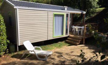 Nouveau mobile home au camping en Dordogne Périgord Noir.