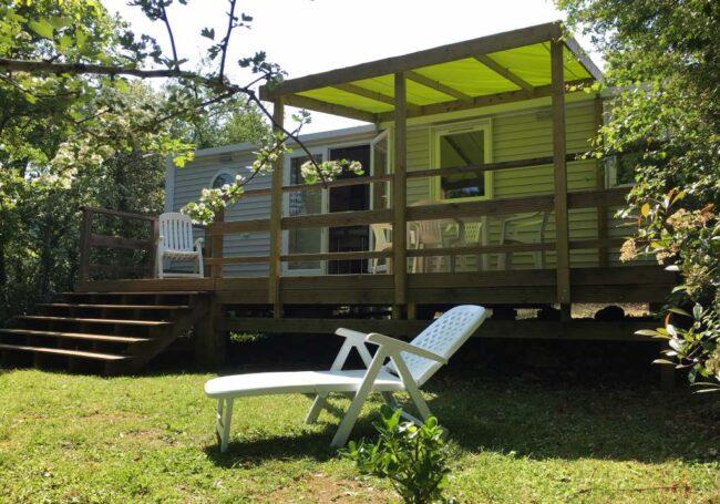 Mobile Home ohara 884 3 chambres 6-8 personnes avec terrasse couverte au camping 3 étoiles en Dordogne Périgord Noir