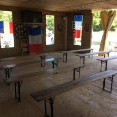 télévision coupe du monde football camping périgord