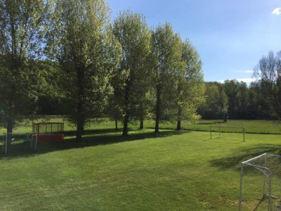 terrains de sport, football, basketball, volley-ball, badminton, camping dordogne, camping périgord