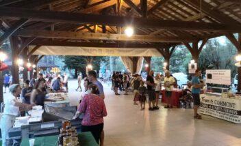 halle producteurs locaux marché nocturne bouzic camping dordogne