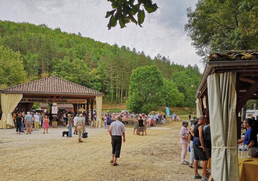 marché gourmand producteurs locaux bouzic camping dordogne