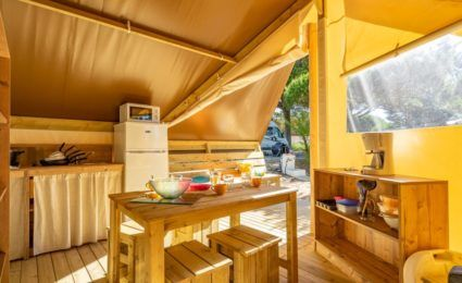 cuisine tente lodge junior xl camping périgord
