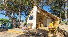 Tente lodge junior XL pour 5 personnes au camping en périgord noir
