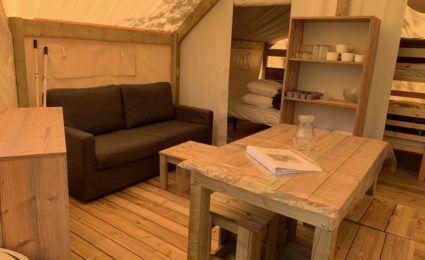 salon tente lodge dordogne juinor x camping périgord 3 étoiles