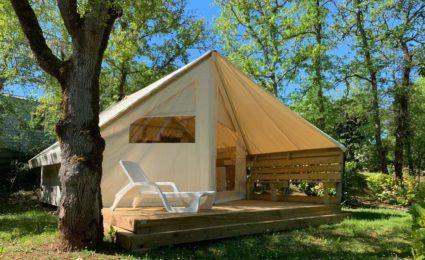 tente lodge camping dordogne périgord noir 3 étoiles