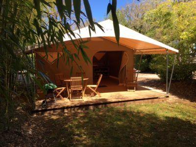 tente lodge forêt de bambou camping nature dordogne