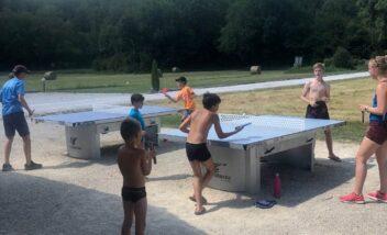 animation tournoi ping pong camping dordogne