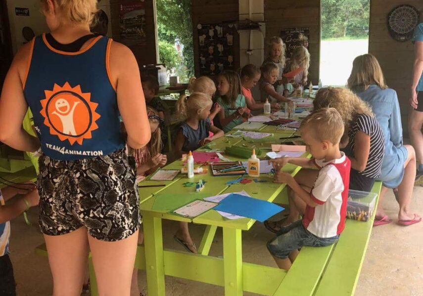 atelier mini club enfants camping dordogne
