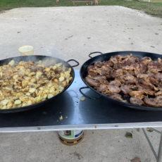 confit de canard soirée repas camping dordogne
