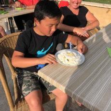 gâteau anniversaire camping dordogne