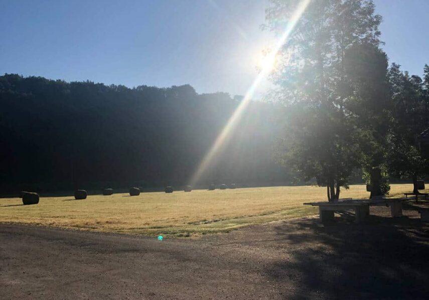 levé soleil camping dordogne