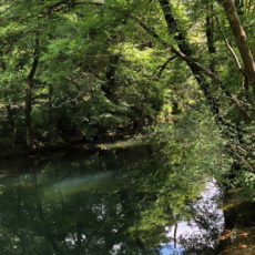 rivière le céou traverse camping dordogne 3 étoiles