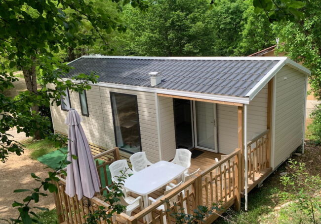 mobile home 3 chambres malaga trio camping dordogne périgord noir le douzou