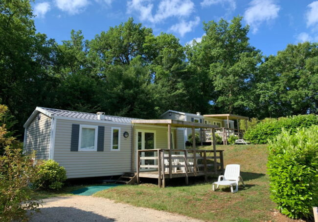 mobile home ibiza 2 chambres camping dordogne périgord noir le douzou