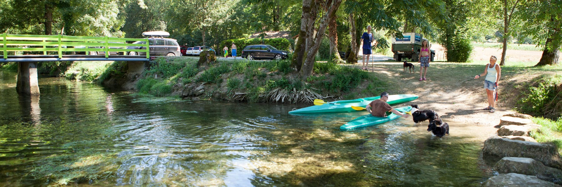 Balade canoe Céou au camping en Dordogne