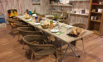 petit dejeuner accueil de groupe au camping en Dordogne