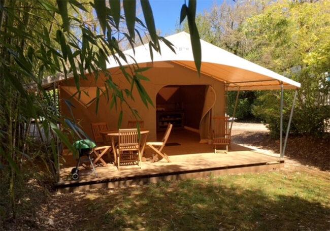 Location tente Canada en camping Dordogne