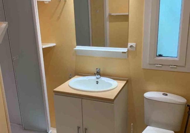 salle de bain WC mobile home antares camping dordogne le douzou